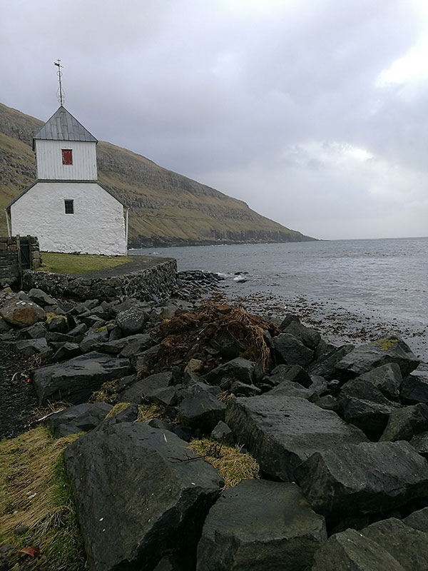 Faroe Island building on the coast